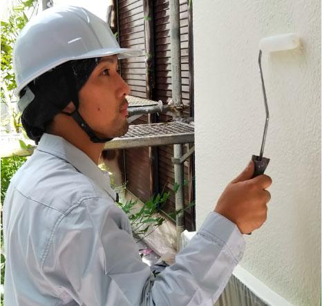 外壁塗装施工イメージ